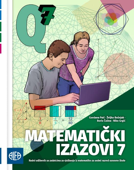 Radni udžbenik sa zadatcima za vježbanje iz matematike za sedmi razred osnovne škole